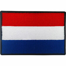 Dutch Flag Patch Iron Sew On Badge Netherlands Holland Football Shirt Applique