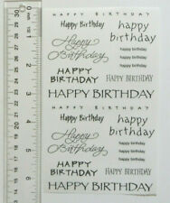 "Mrs Grossman HAPPY BIRTHDAY CAPTIONS - Large 6.5"" x 4"" Sheet of Multi Stickers"