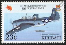 US Navy GRUMMAN TBF / TBM-3E AVENGER WWII Bomber Aircraft Stamp (1995 Kiribati)