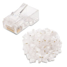 100-Pack Cat 6 RJ45 Modular Plugs for Stranded UTP Cable Y2X5