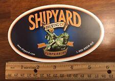 "SHIPYARD BREWING CO. ""pumpkinhead"" Beer Skateboard STICKER Decal Craft Brewery"