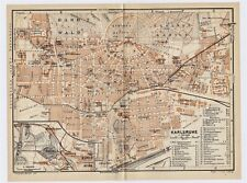 Map Of Germany Karlsruhe Baden.Germany Baden Wurtemberg Antique Original Antique European Maps