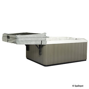 Slider Spa Cover Roller - Easy No-Lift Roll-Away Hot Tub Cover Storage Brackets