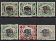 Liberia 1892-1900 Range of 6 Elephants diff. Issues Fauna MH* Scarce & Rare!