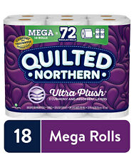 Quilted Northern Ultra Plush Restroom Paper, 18 Mega Rolls (= 72 Regular Rolls)