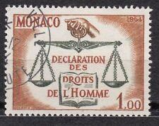 TIMBRE MONACO OBL N° 661  DECLARATION DES DROITS DE L HOMME