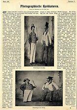 Dr. E.C. Photographische Karikaturen Aufnahmen v.Karl Zeiß Jena Fototechnik 1899