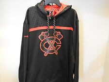 NHL Reebok Chicago Blackhawks Hooded Lace-Up Sweatshirt New Mens 3XL $90