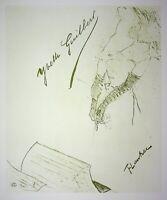 Toulouse Lautrec: Yvette Guilbert - Lithografie Unterzeichnet, 1950