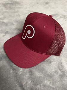 Philadelphia Phillies Vintage Throwback 1970's Logo Baseball Trucker Hat Cap NEW