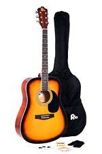 """Rio 41"""" completo tamaño 4/4 Pack De Guitarra Acústica Para Principiantes Dreadnought paquete sb"""