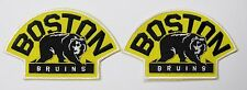 LOT OF (2) HOCKEY BOSTON BRUINS WITH THE BEAR PATCH PATCHES TYPE B ITEM # 72