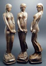 1PCS Sexy Plump Beauty women Agarwood wood carved statue Collection 7.87inch