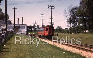 Duplicate Slide CA&E 458 Wheaton-Aurora Line 1952 Warrenville IL Chicago Aurora