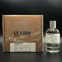 Le Labo Santal 33 Eau De Parfum 100ml 3,4OZ Unisex Authentic New Sealed Box EDP