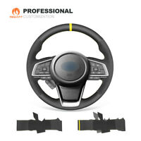 DIY Black Leather Suede Steering Wheel Cover for Subaru Forester Ascent Outback
