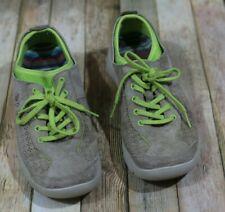 Dansko Elise Sneaker Womens Size 7-7.5 38 Tan Green Slip Resistant Suede Ties