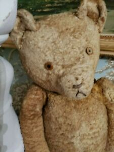 Antique Straw Filled growling Mohair Teddy Bear