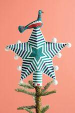 Anthropologie Beaded Star & Bird Christmas Tree Topper