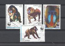 GUINEA ECUATORIAL. Año: 1991. Tema: FAUNA WWF.