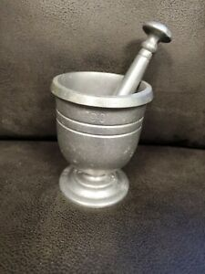 RWP Pewter Mortar and Pestle Clean Well Cared For EUC