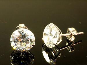 333 Gold Ohrstecker 1 Paar 8mm Grösse 3 Krappen mit Zirkonia Steinen