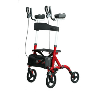 Upright Walker Stand Up Folding Rollator Back Erect Rolling Walking Aid