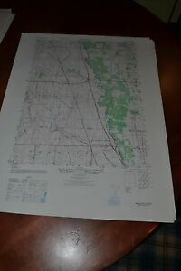 1940's Army topo map (like USGS) Wheeling Vernon Illinois -Sheet 3864 III NW