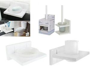 Croydex White Pine Wood Maine Toilet Brush Holder / Tumbler And Soup Dish Holder