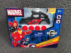 Black Widow Diecast Metal Jeep Model Kit Marvel 4x4 Rebels WranglerRubicon NEW