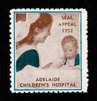 AUSTRALIA ADELAIDE CHILDREN'S HOSPITAL SEAL APPEAL CHARITY POSTER STAMP 1952