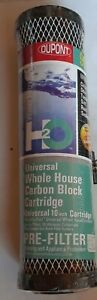 "New DUPONT WFPFC9001 20 Micron 10"" Carbon Block Universal Filter Cartridge"