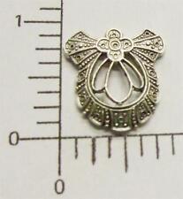 21884         Matte Silver Oxidized Victorian Filigree Jewelry Finding