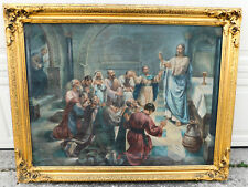 Antique Old Master Oil Painting Christ 12 Apostles HOLY EUCHARIST RAAB Sprengel
