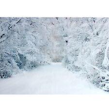 7X5FT Winter Snow Road Tree Photography Backdrop Background Studio Vinyl Props