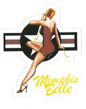 MEMPHIS BELLE WORLD WAR 2 NOSE ART PIN UP GIRL  Sticker Decal