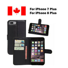 Black Wallet PU Leather Card Holder Cover Case For iPhone 7 Plus & iPhone 8 Plus