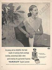 Yardley English Lavender Fragrance & Soap Original 1947 Vintage Print Ad