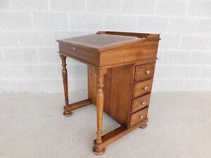 Pennsylvania House Oak Leather Top Davenport Desk