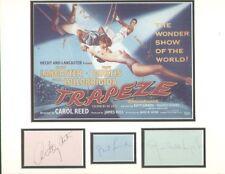 TRAPEZE (1956 FILM) BURT LANCASTER SIGNED AUTOGRAPHS