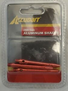 Accudart 2BA Size Aluminum Shafts RED 3 in Package D5203