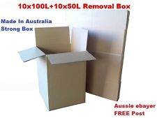 10+10 2sizes Cardboard Packing Boxes Removal Moving Storage Heavy Duty Carton