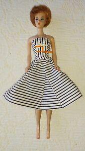 1961 Barbie 1961 #850 Bubblecut Titan Pat's Pend Wearing #912 Cotton Casual TM
