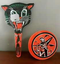 2 Vintage Halloween Noise Makers by U.S. Metal Toy Co.