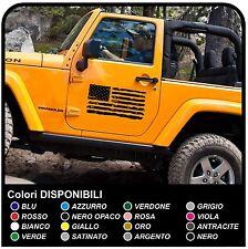 adesivi portiera x jeep Wrangler Renegade Cherokee bandiera americana consumata