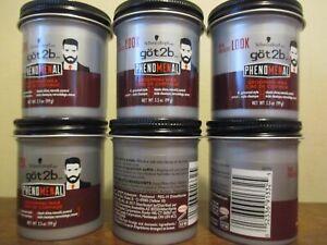 6 Pack Got2b Phenomenal Grooming Hair Wax 3.5 oz Clear