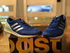 Men's Adidas Adizero Takumi Sen Running Shoes Blue, White, Teal  W/ Inserts 7.5