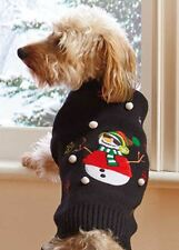 Ugly Snowman Holiday Dog Sweater Medium Size by Pawslife