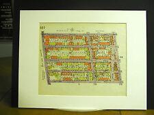 Brooklyn Map 1929 Matted Elderts Autumn Jamaica Ridgewood Etna Nichols Union