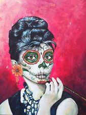 Halloween Day of Dead Set of 10  , Dia De Los Muertos Audrey Hepburn 10 Card Set